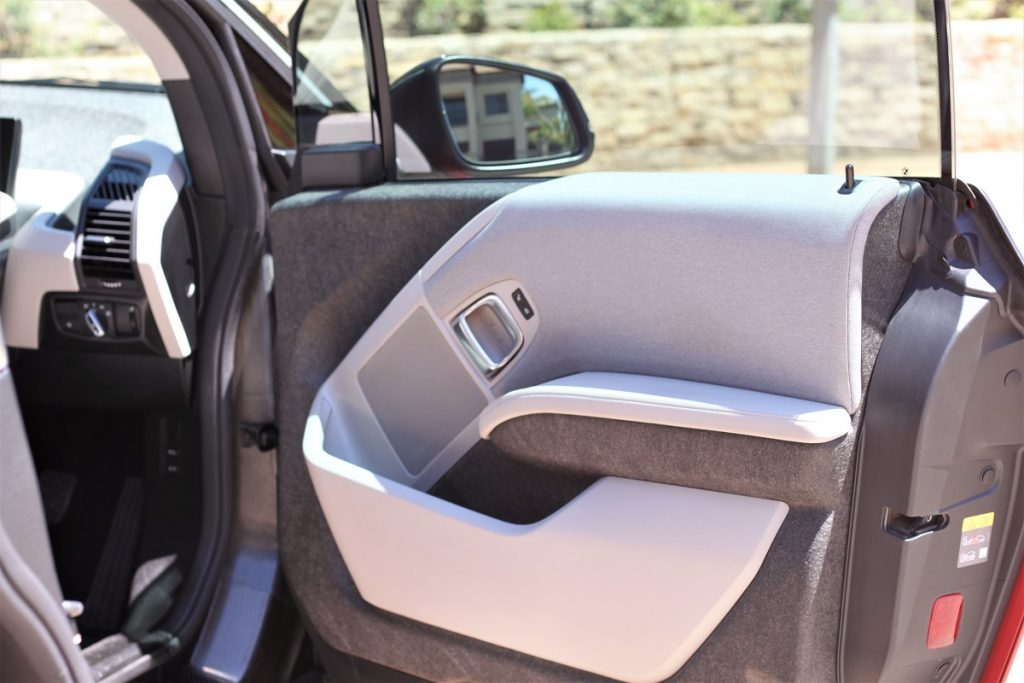 A view of the interior of the BMW i3 by Cassidy