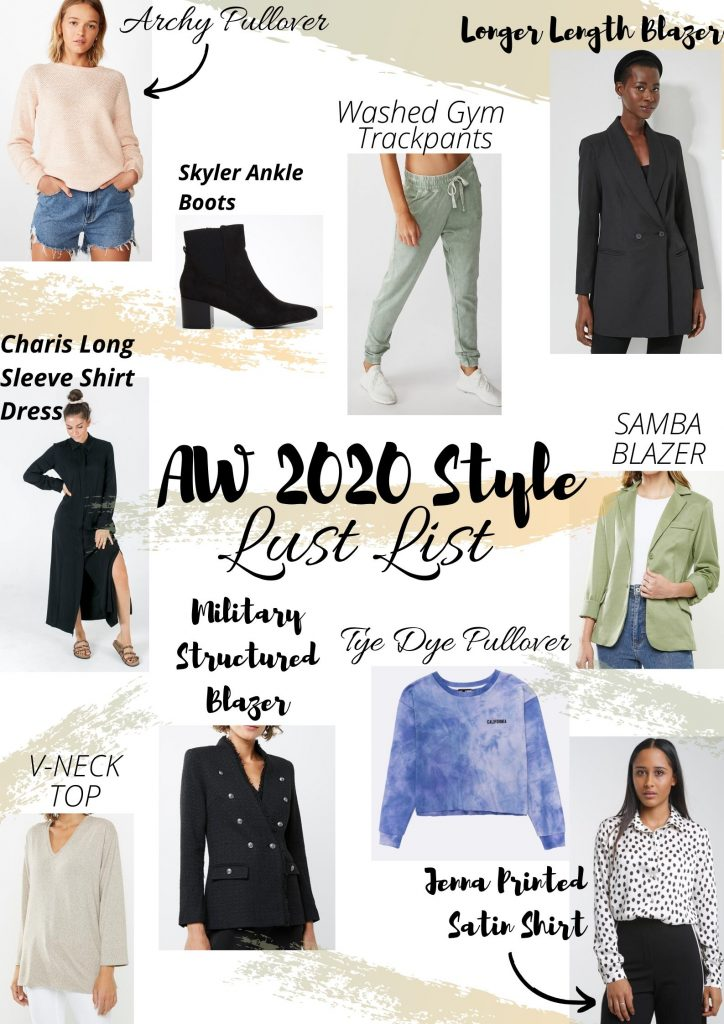 Fashion Lust List for AW 2020