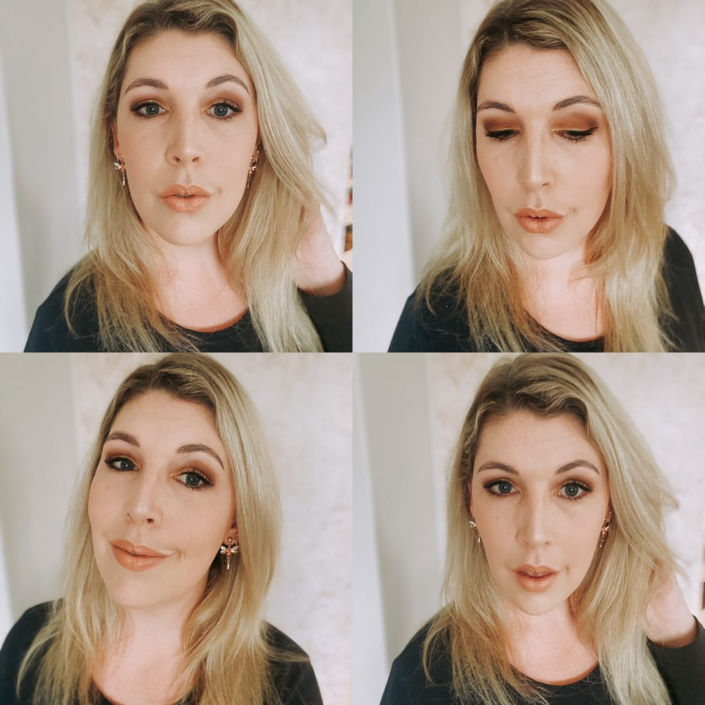 The Glam Green Girl's makeup look