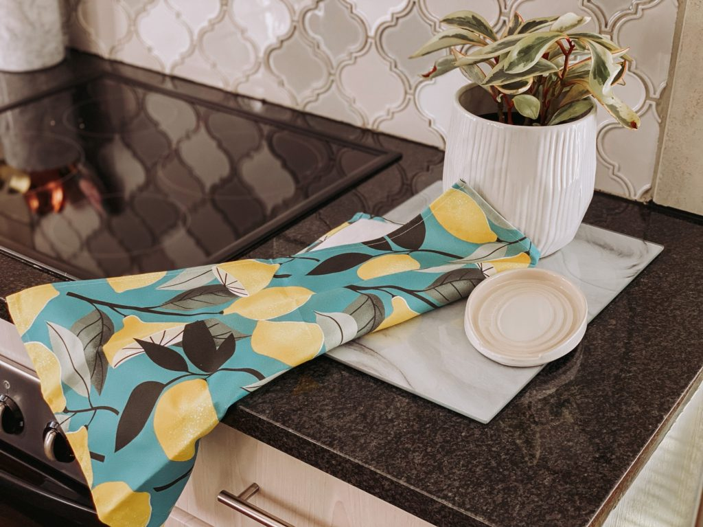 Lemon Tea Towel Aurora Home